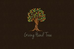 Giving Hand Tree Logo