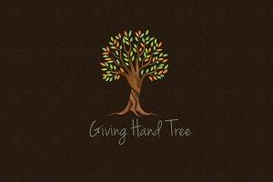 Giving Hand Tree Logo