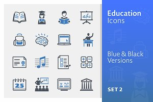 Education Icons Set 2 - Blue Series