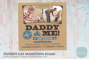 IF006 Father's Day Marketing Board