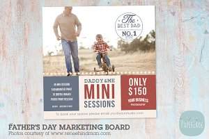 IF004 Father's Day Marketing Board