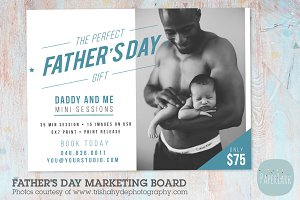 IF019 Father's Day Marketing Board