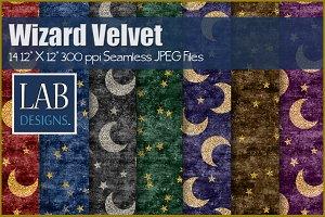 14 Wizard Velvet Glitter Moon & Star