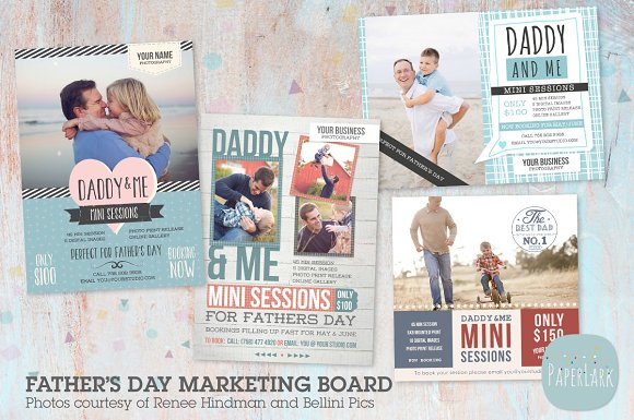 if005 father s day marketing bundle flyer templates creative market