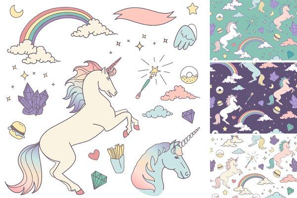 Unicorn Clip Art & backgrounds