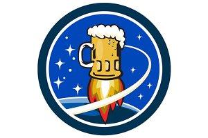 Beer Mug Rocket Ship Space