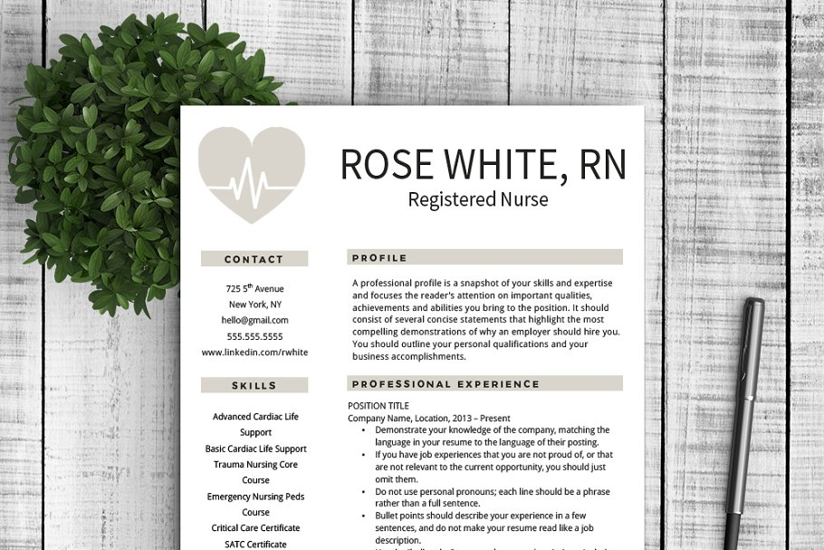 Resume & Cover Letter - Rose ~ Cover Letter Templates ...