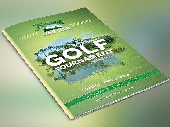 Golf Brochure Template Brochure Templates Creative Market - Golf brochure template