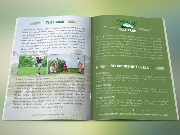 golf brochure template brochure templates creative market