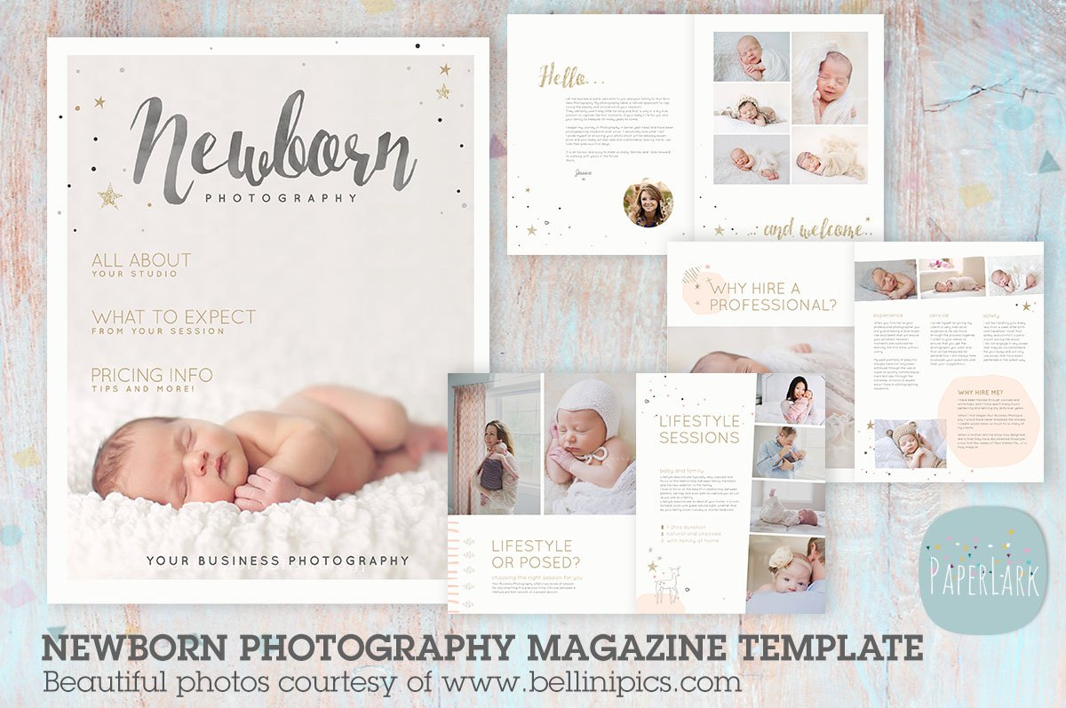 PG016 Newborn Photography Magazine ~ Magazine Templates ~ Creative ...