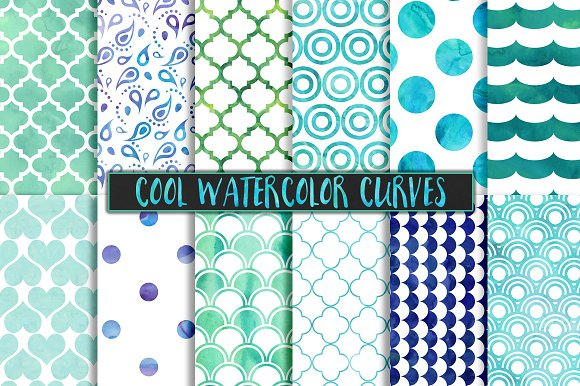 Cool Watercolor Pattern Backgrounds