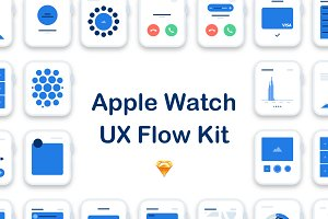 Apple Watch UX Flow Kit