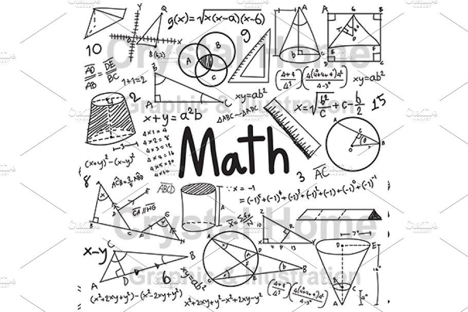 Math education doodle icon