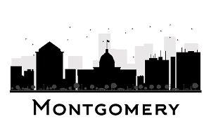 Montgomery City skyline silhouette