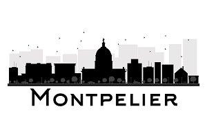 Montpelier City skyline silhouette