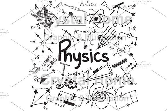 physics education doodle icon icons creative market
