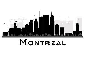 Montreal City skyline silhouette