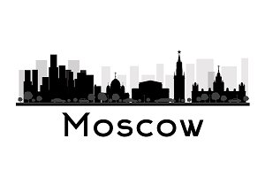 Moscow City skyline silhouette