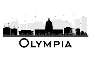 Olympia City skyline silhouette