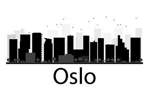 Oslo City skyline silhouette