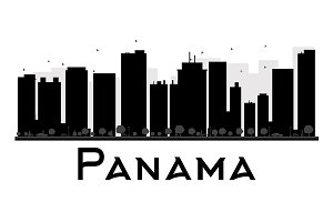 Panama City skyline silhouette