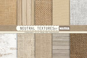 NEUTRAL TEXTURES digital papers