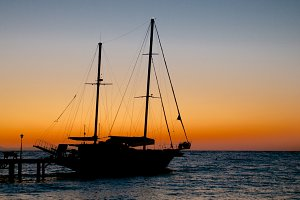 Sailing Ship on Sunrise