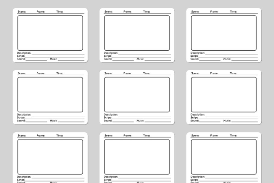 Storyboard Templates | Storyboard Template For Film Story Graphics Creative Market