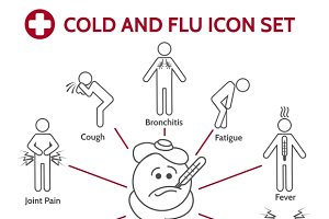 Cold and flu icons