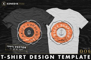 T-Shirt Design Template 006