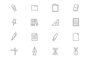 School education outline icons vol 2