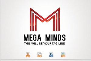 Mega Minds,M Letter logo