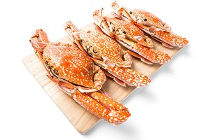 Steamed flower crab