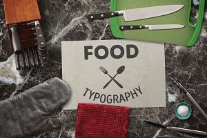 Food. Typography quotes.
