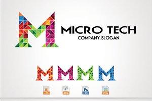 Micro tech/M Letter Logo