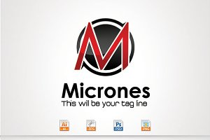 Micrones,M Letter Logo