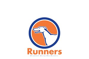 Runners Greyhound Dog Breeders Logo