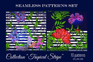 10 Tropical Seamless Patterns