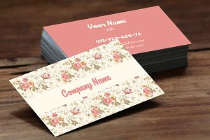 Vintage Flower Busness Card