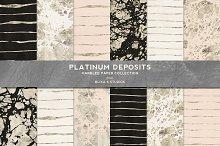 Platinum Deposits Marbled Gold Paper