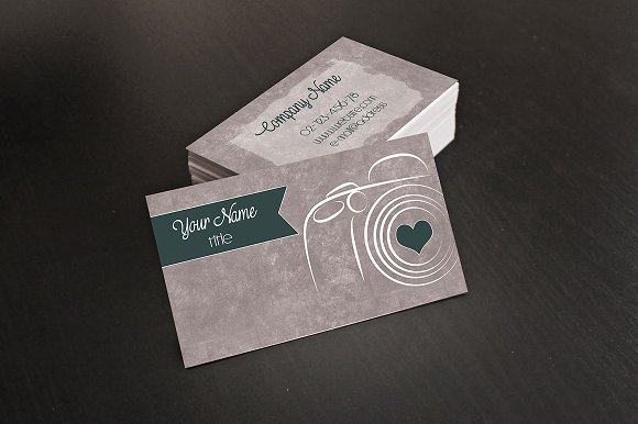 Photographer business card business card templates for Unique photography business cards