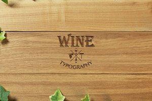 Wine. Typography quotes.