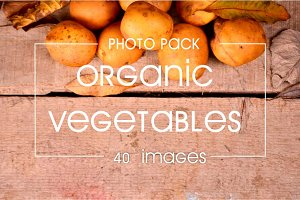 40 images of organic vegetables