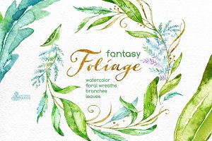 Fantasy Foliage. Floral collection
