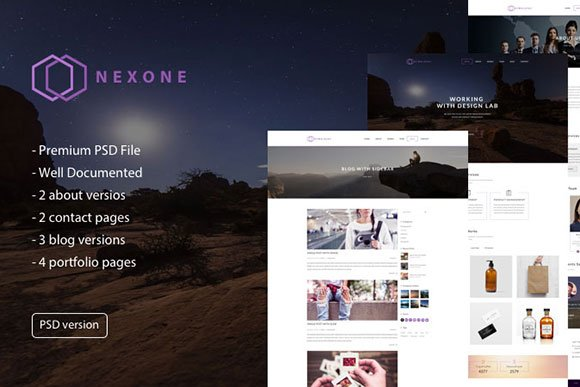 NEXONE Business PSD Template
