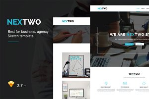 NEXTWO Business Sketch Template