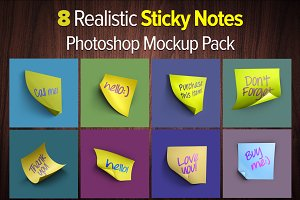 Sticky Notes PS Mockups