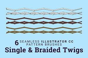 6 Twigs Vector Pattern Brushes