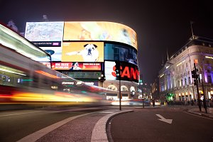 Piccadilly Circus in London.