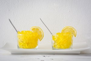 Lemon slushies